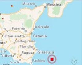 terremoto oggi in tempo reale sicilia sicracusa catania pachino ragusa