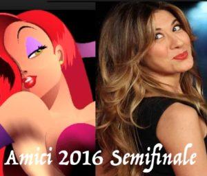 virginia raffaele semifinale amici 2016 imita jessica rabbit 18 maggio 2016 anticipazioni amici 15 imitazione virginia raffaele