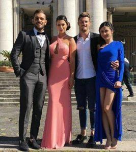Dario Loda con Claudia Merli, Gianmarco Valenza ed Alessia Messina invitati matrimonio emanuele alessandra temptation island
