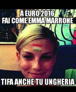 emma marrone gaffe della bandiera  italiana sulla fronte su facebook