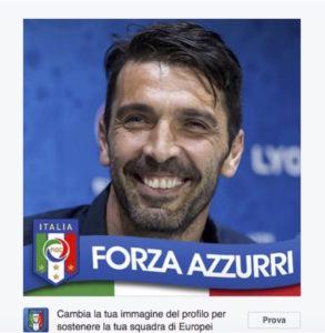 forza azzurri su facebook come cambiare l immagine profilo per belgio italia euro 2016