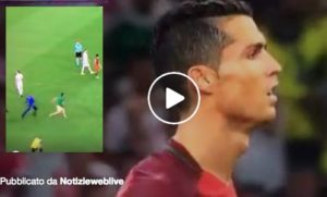 video euro 2016 uomo in campo polonia portogallo nuovo fan di cristiano ronaldo