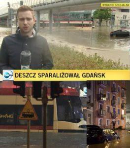alluvione a danzica polonia foto immagini Powódź w Gdańsku zdjęcia wideo
