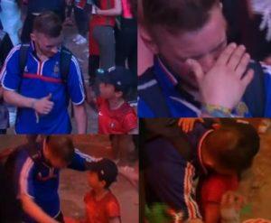 bimbo tifoso portogallo conforta abbraccia tifoso francese dopo finale euro 2016 video