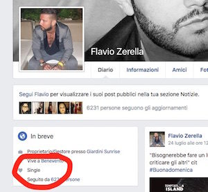flavio zerella single su facebook temptation island ma roberta lo ha lasciato dopo temptation island