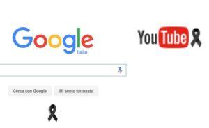 google e youtube ficco nero di lutto per il terremoto centro italia