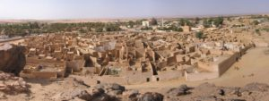 View of the Medina of Ghat from the fortress (made with Autostitch)