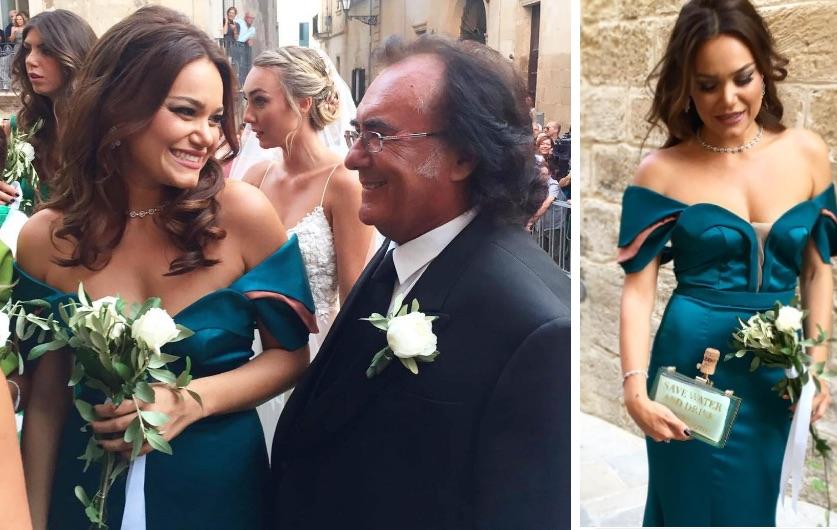 romina carrisi abito testimone matrimonio cristel carrisi figlia di albano instagram