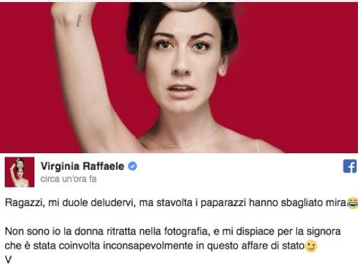 Gaffe foto virginia raffaele su diva e donna la smentita non lei quella senza trucco e - Diva e donne giornale ...